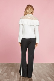 Willow & Clay Ruffle Lace Sweater - Front full body