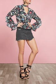 Willow & Clay Ruffle-Sleeve Printed Top - Product Mini Image