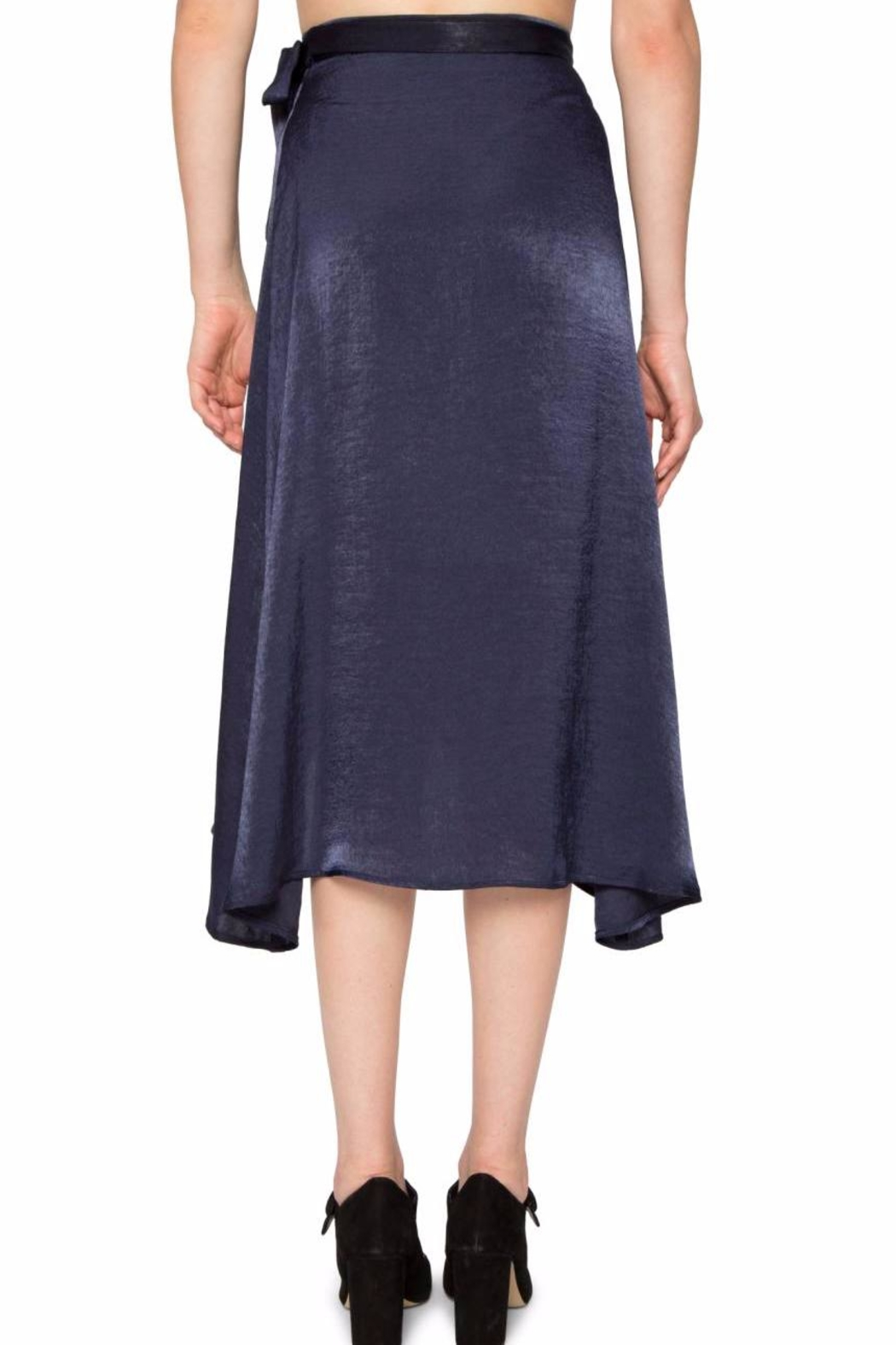 Willow & Clay Satin Wrap Skirt - Front Full Image
