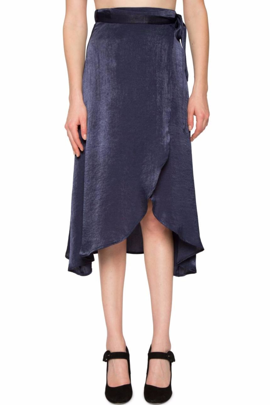 32bcb2688ac0 Willow   Clay Satin Wrap Skirt from Hudson Valley by Bfree — Shoptiques