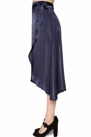 Willow & Clay Satin Wrap Skirt - Side cropped