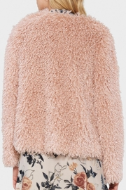 Willow & Clay Shaggy Fur Jacket - Front full body