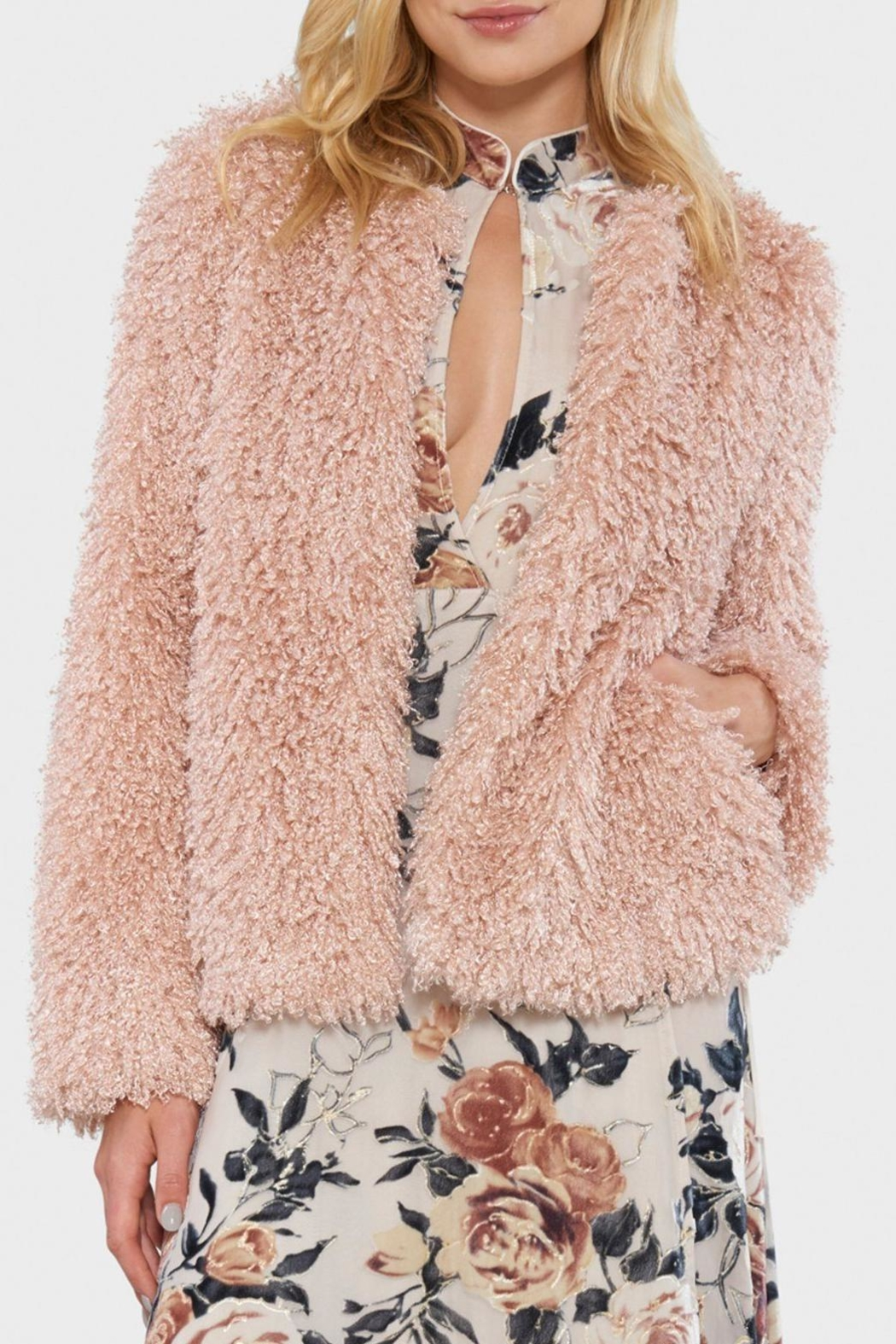 Willow & Clay Shaggy Fur Jacket - Main Image