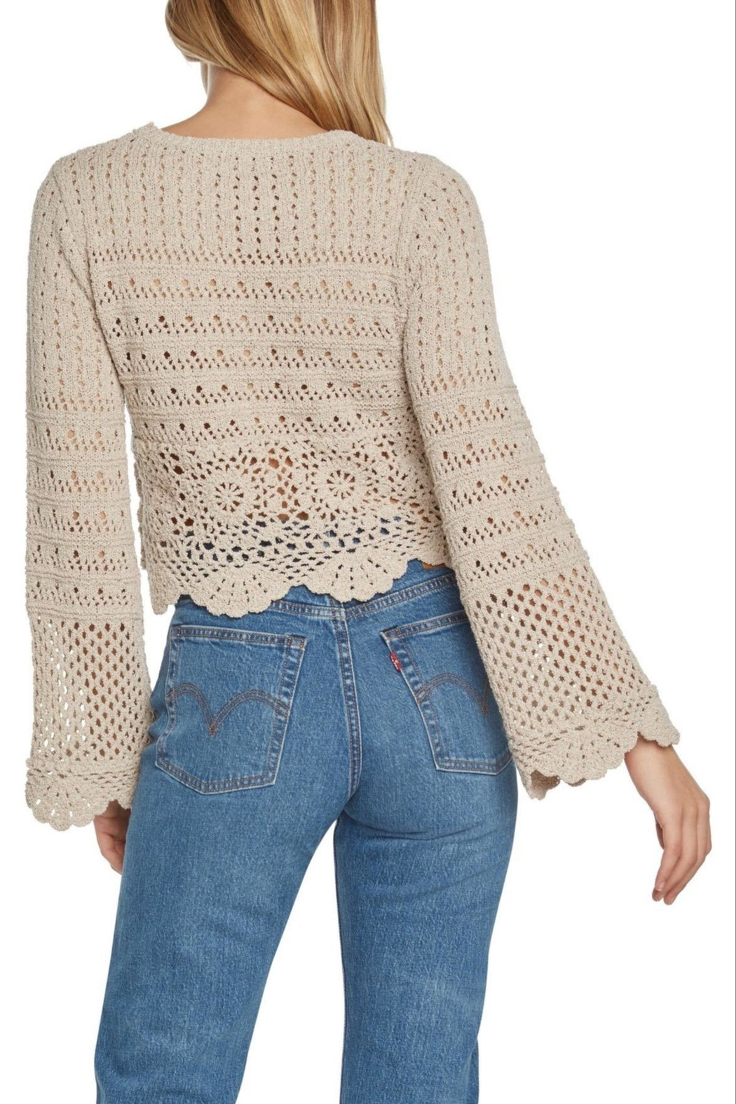 Willow & Clay Soleil Crochet Sweater - Front Full Image