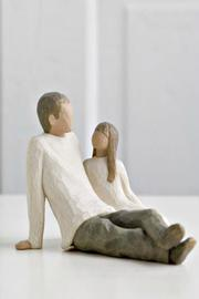 Willow Tree(r) by Susan Lordi, from DEMDACO Father And Daughter Figurine - Product Mini Image