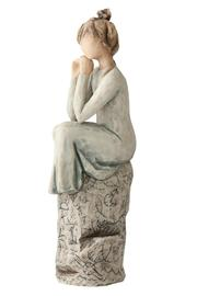 Willow Tree(r) by Susan Lordi, from DEMDACO Patience Figurine - Back cropped