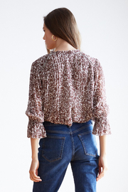 Velvet by Graham & Spencer  Wilona Ruffle Blouse - Front full body