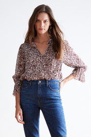 Velvet by Graham & Spencer  Wilona Ruffle Blouse - Front cropped