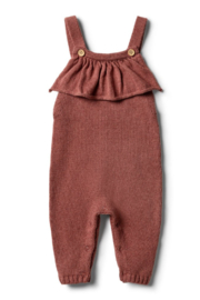 Wilson and Frenchy Knitted Ruffle Overall - Product Mini Image