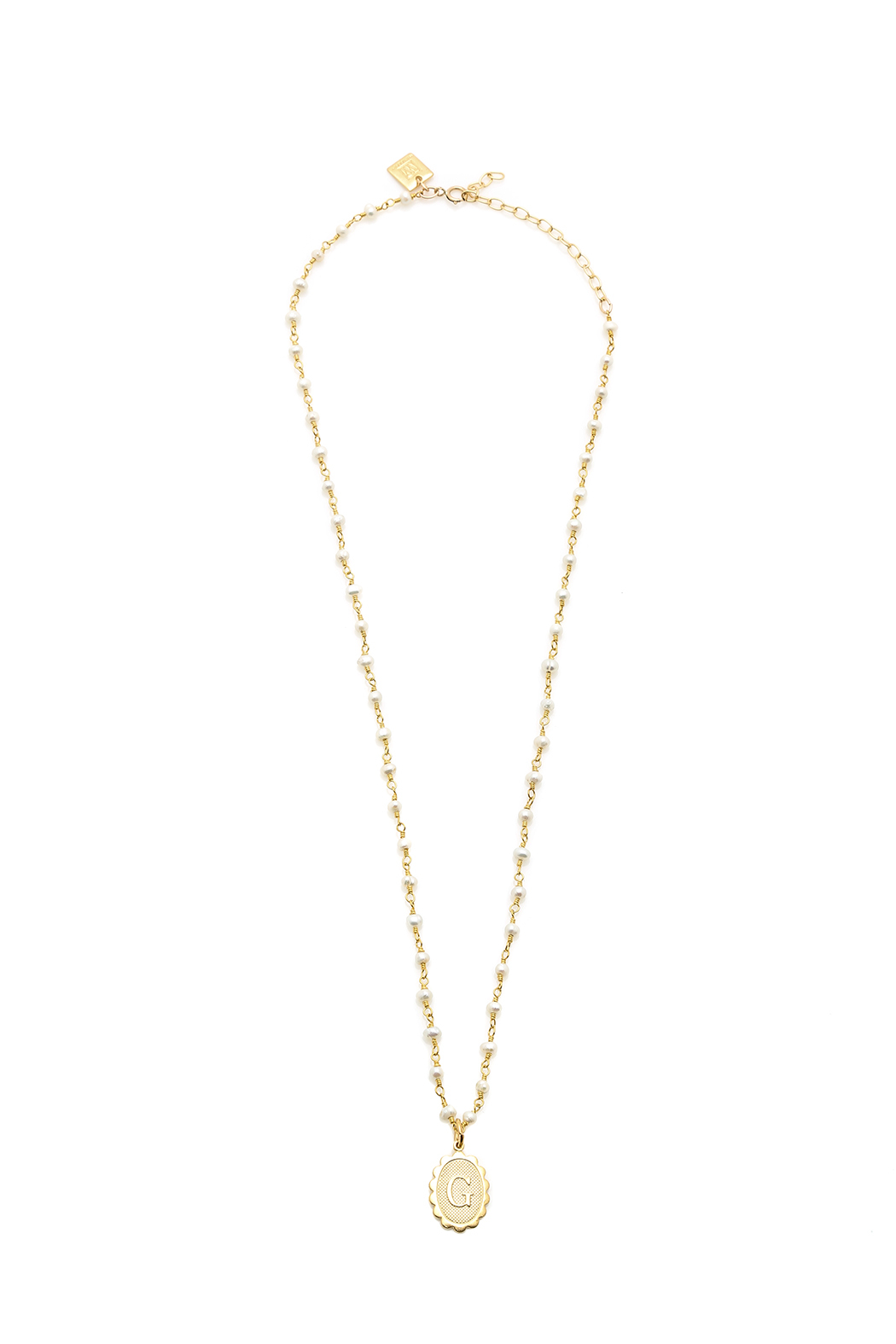 Wimberley Monogram Pearl Necklace  Front Cropped Image
