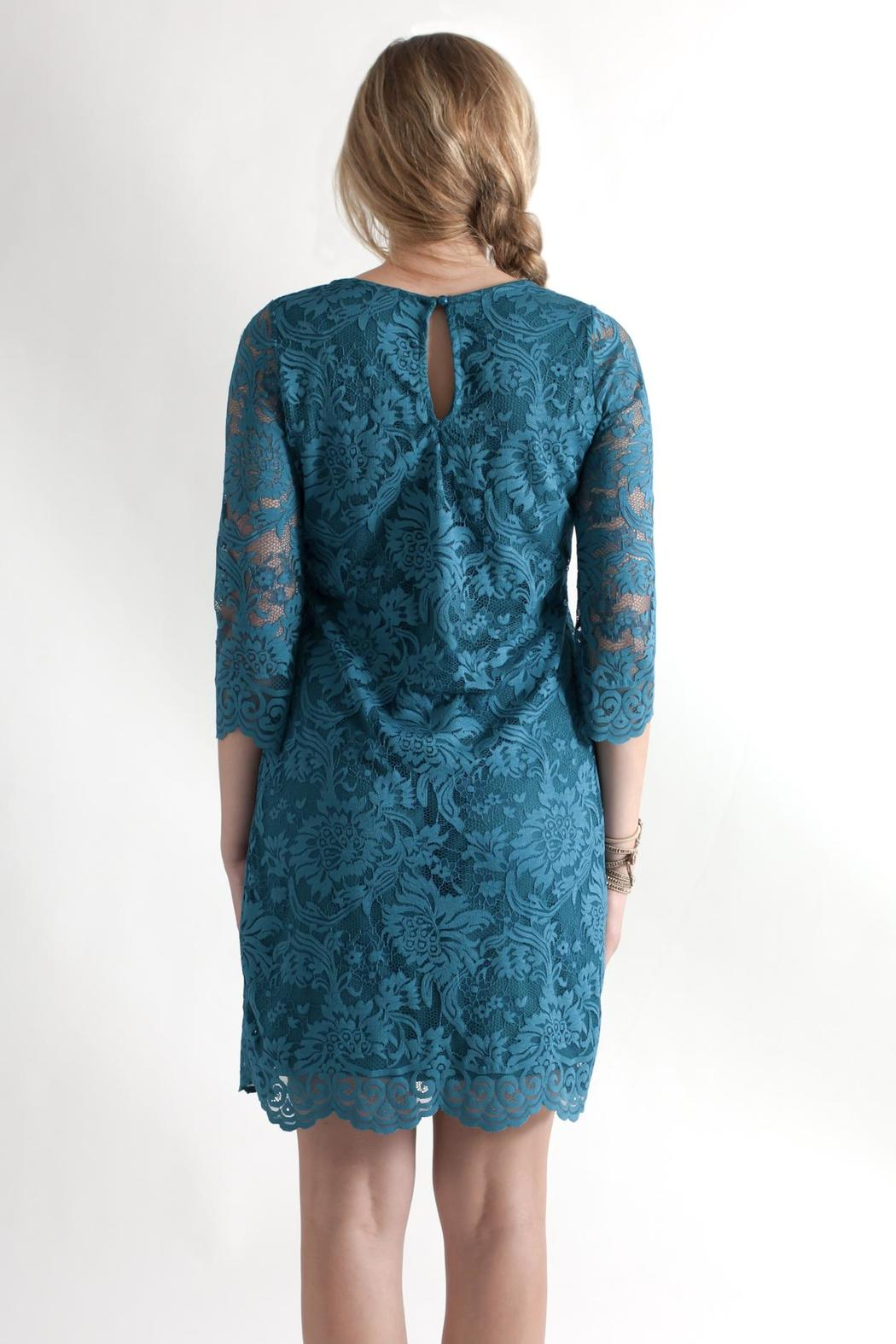 Win Win Floral Lace Dress - Back Cropped Image