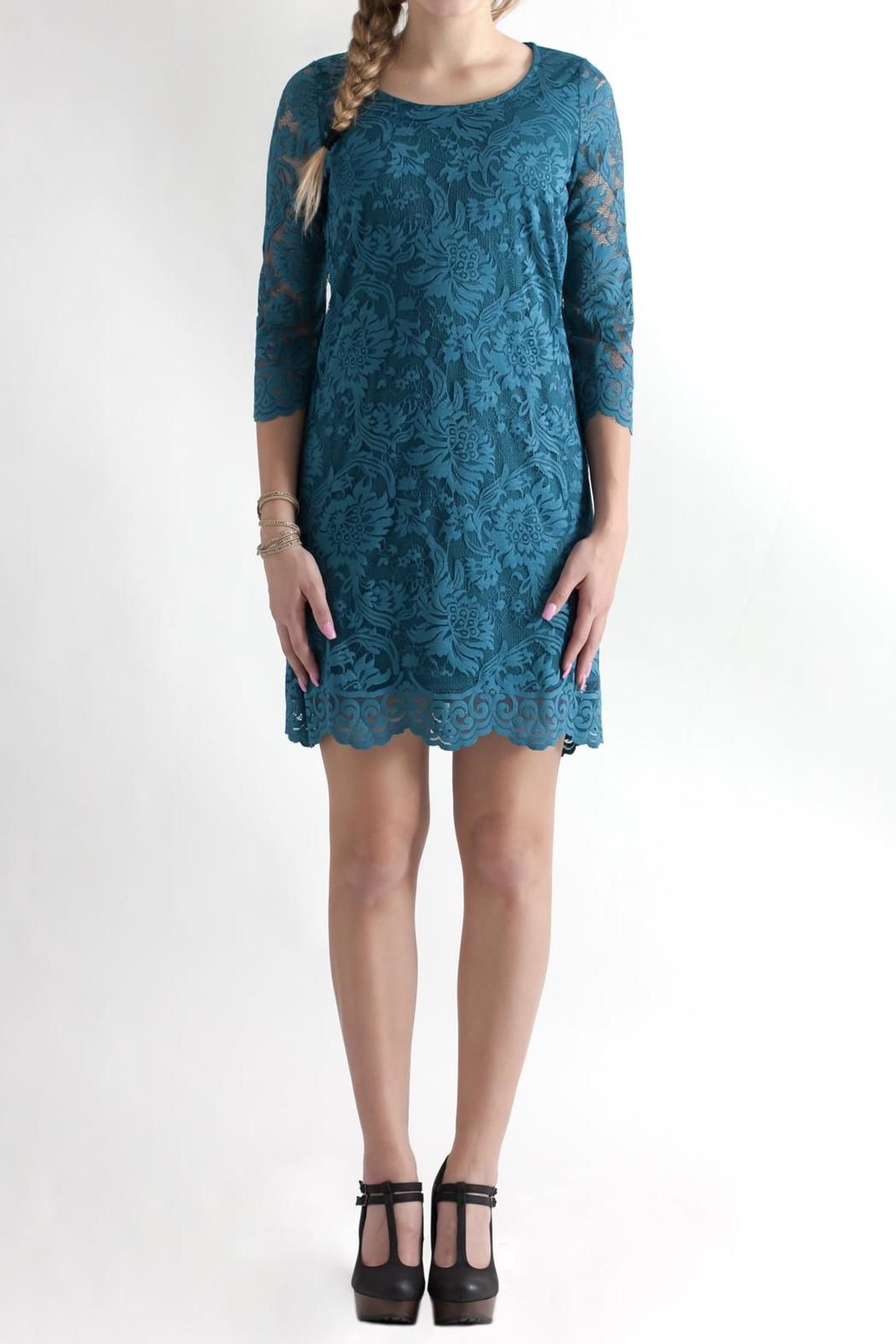 Win Win Floral Lace Dress - Main Image