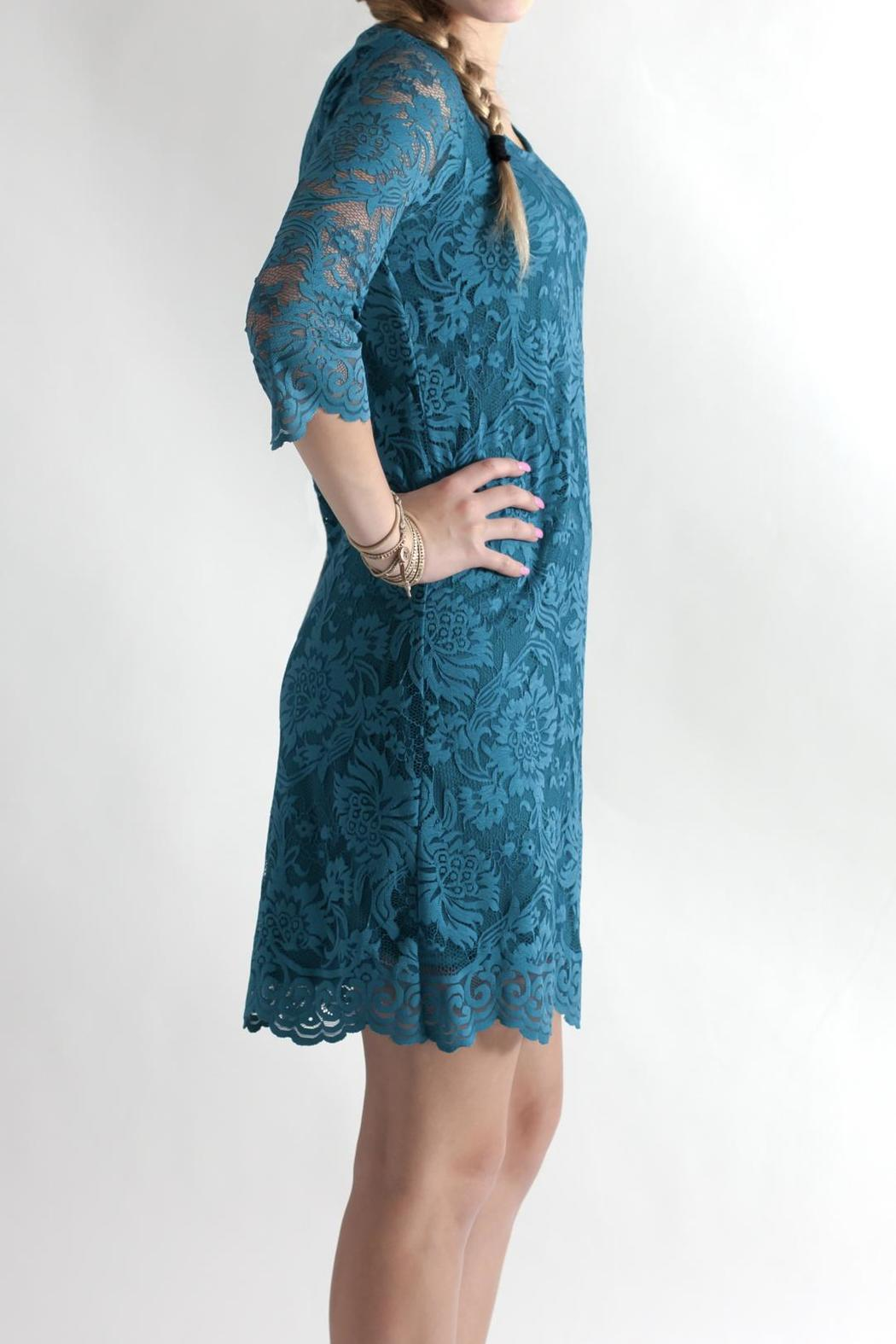 Win Win Floral Lace Dress - Side Cropped Image