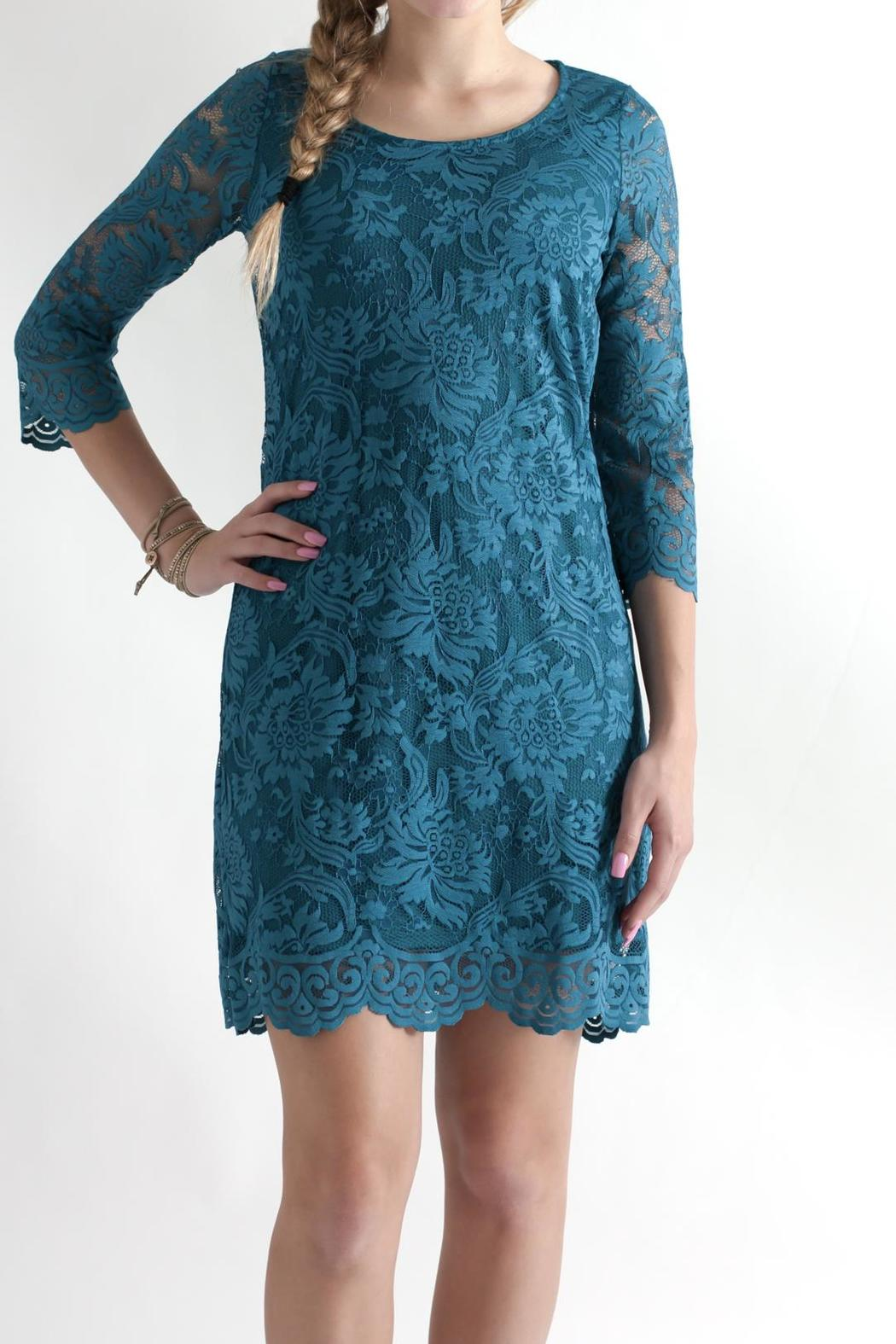Win Win Floral Lace Dress - Front Full Image