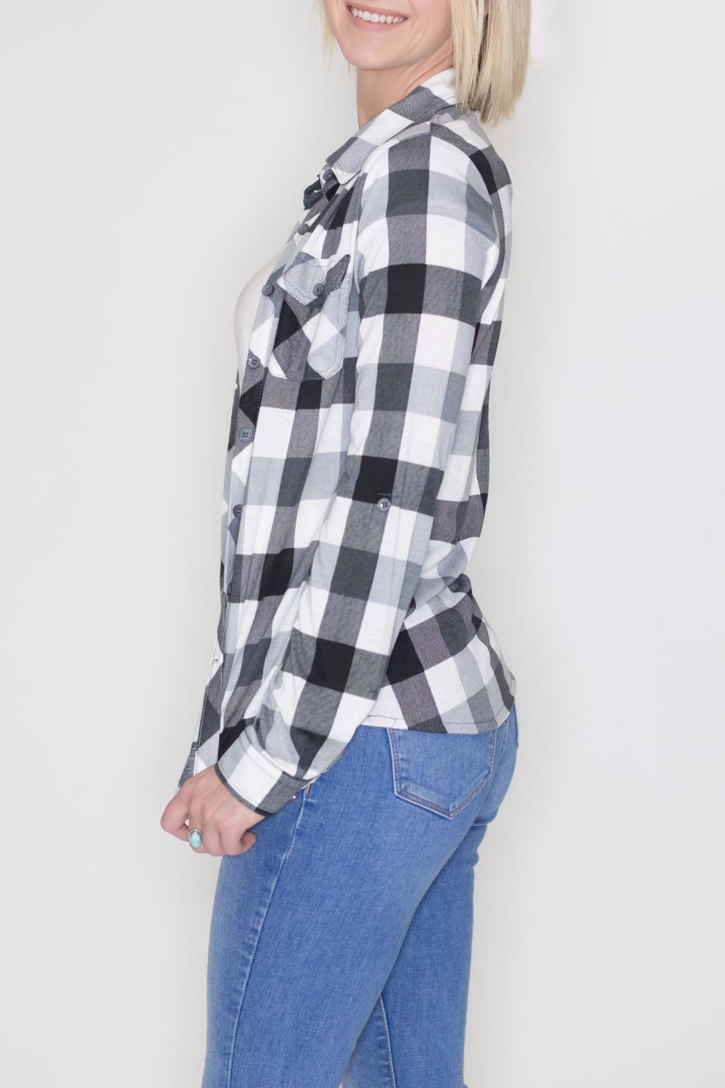 Win Win Plaid Button Down - Front Full Image