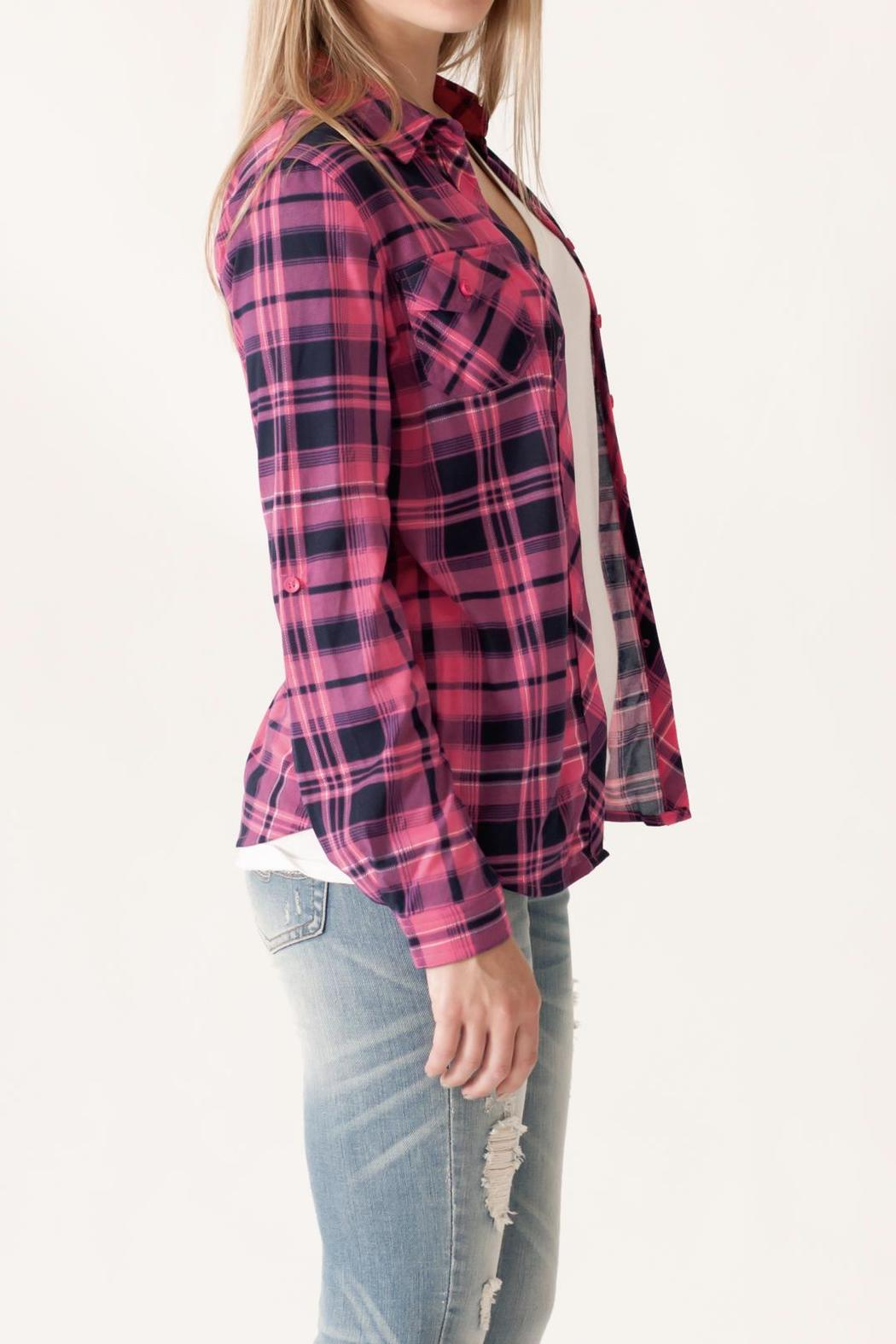 Win Win Plaid Button Down - Side Cropped Image