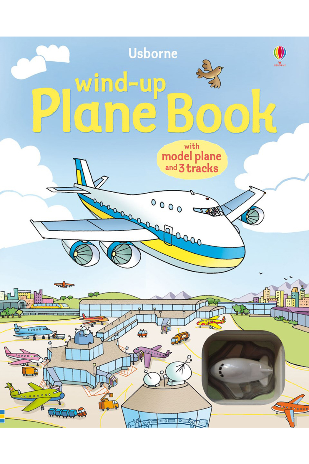 Usborne Wind-Up Plane Book - Front Cropped Image