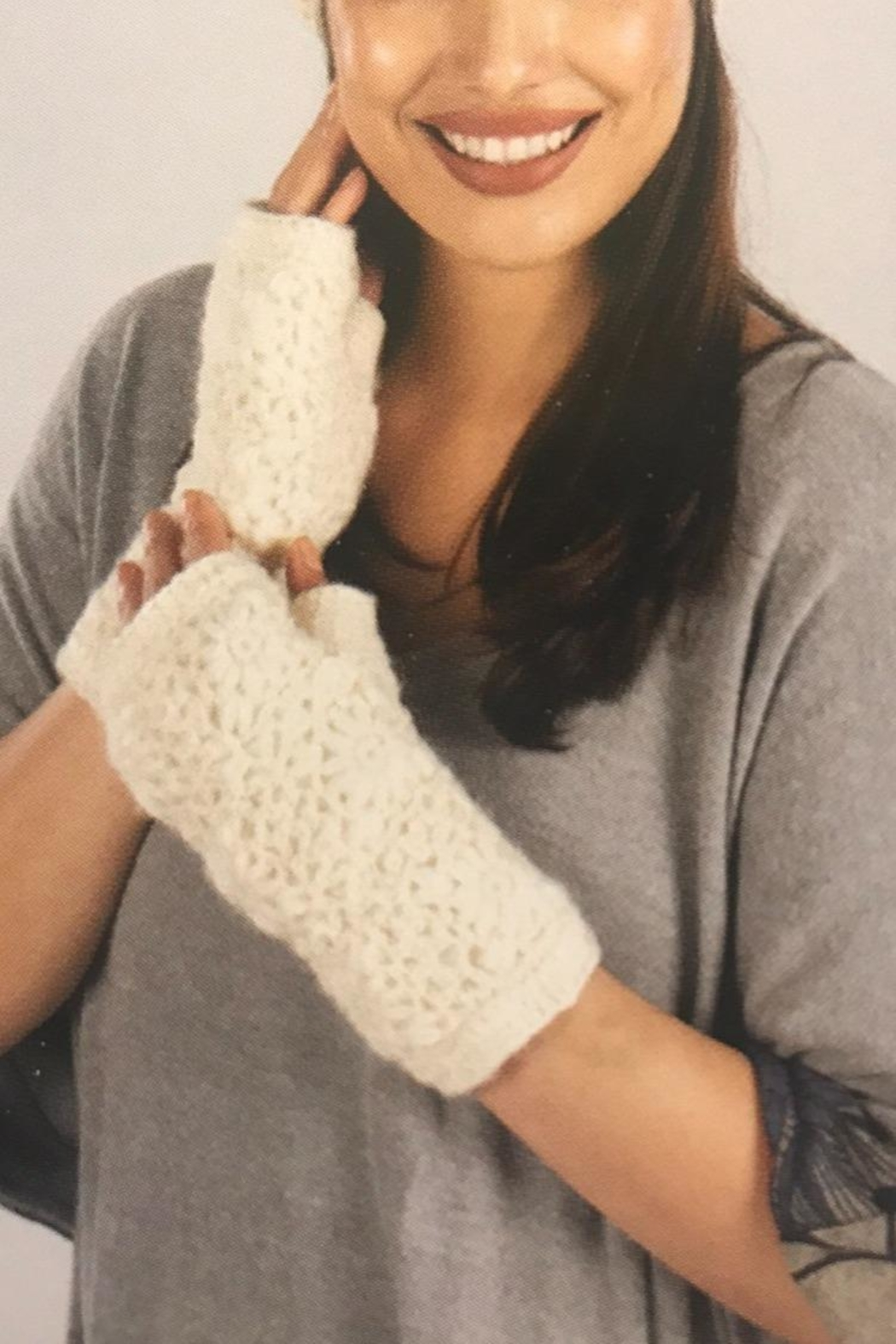 Windhorse Fingerless Gloves - Front Cropped Image