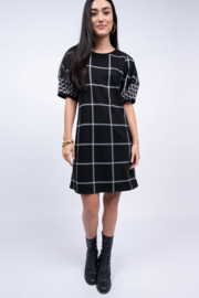 Ivy Jane / Uncle Frank  Window Pane Dress - Front cropped