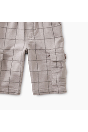 Tea Collection Windowpane Cargo Shorts - Front full body