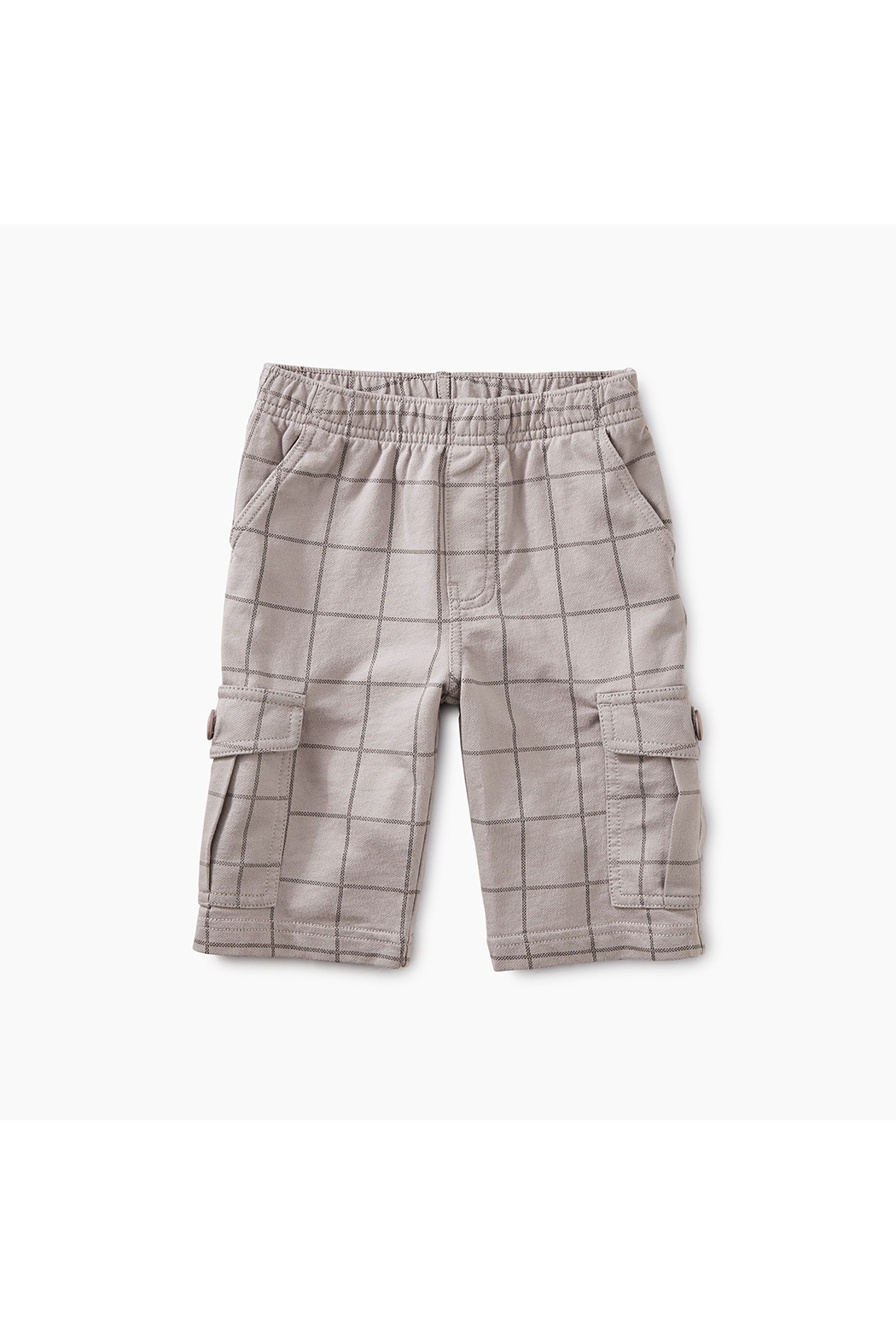Tea Collection Windowpane Cargo Shorts - Front Cropped Image