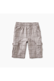 Tea Collection Windowpane Cargo Shorts - Product Mini Image
