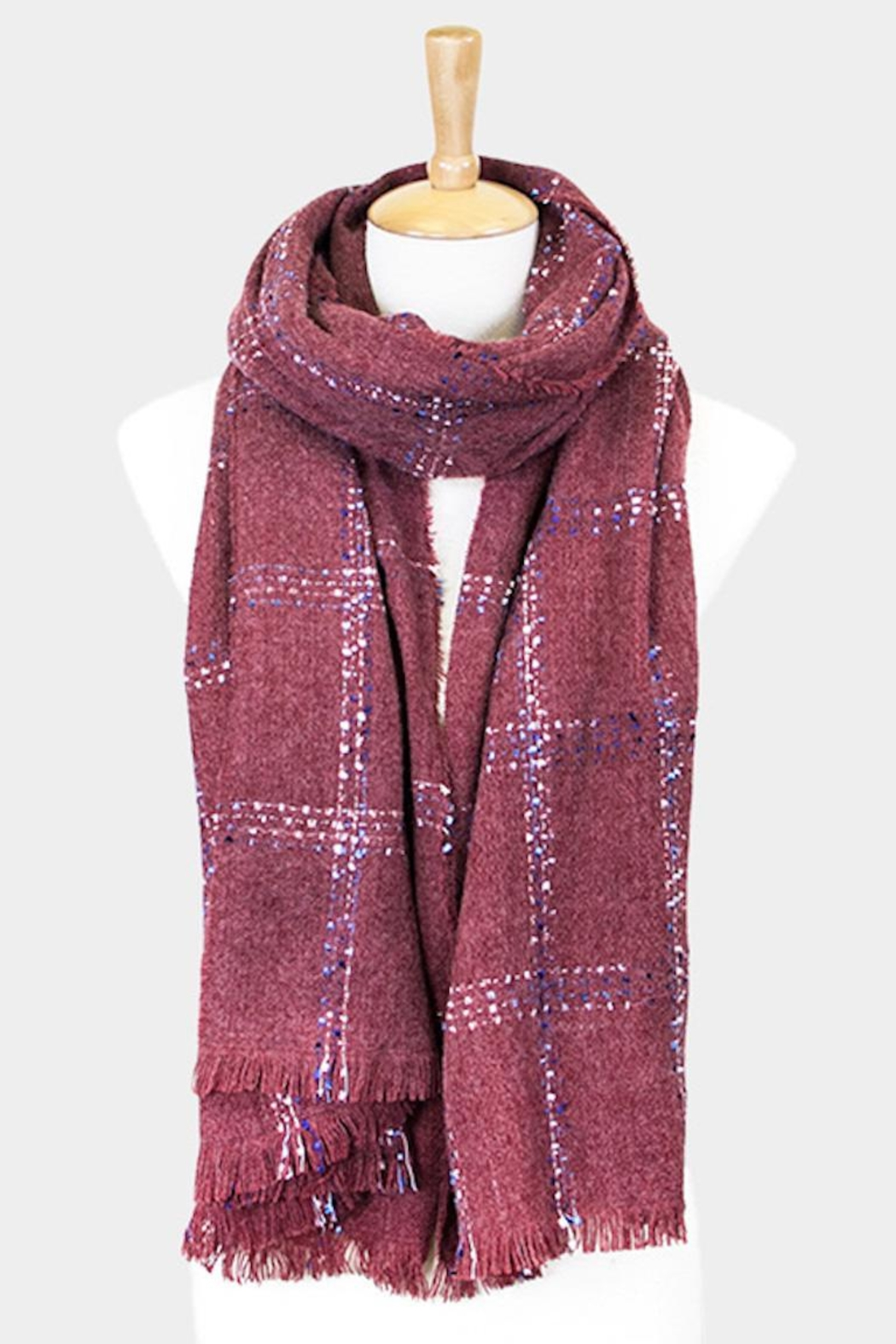 TIGERLILY Windowpane Oblong Scarf - Front Cropped Image