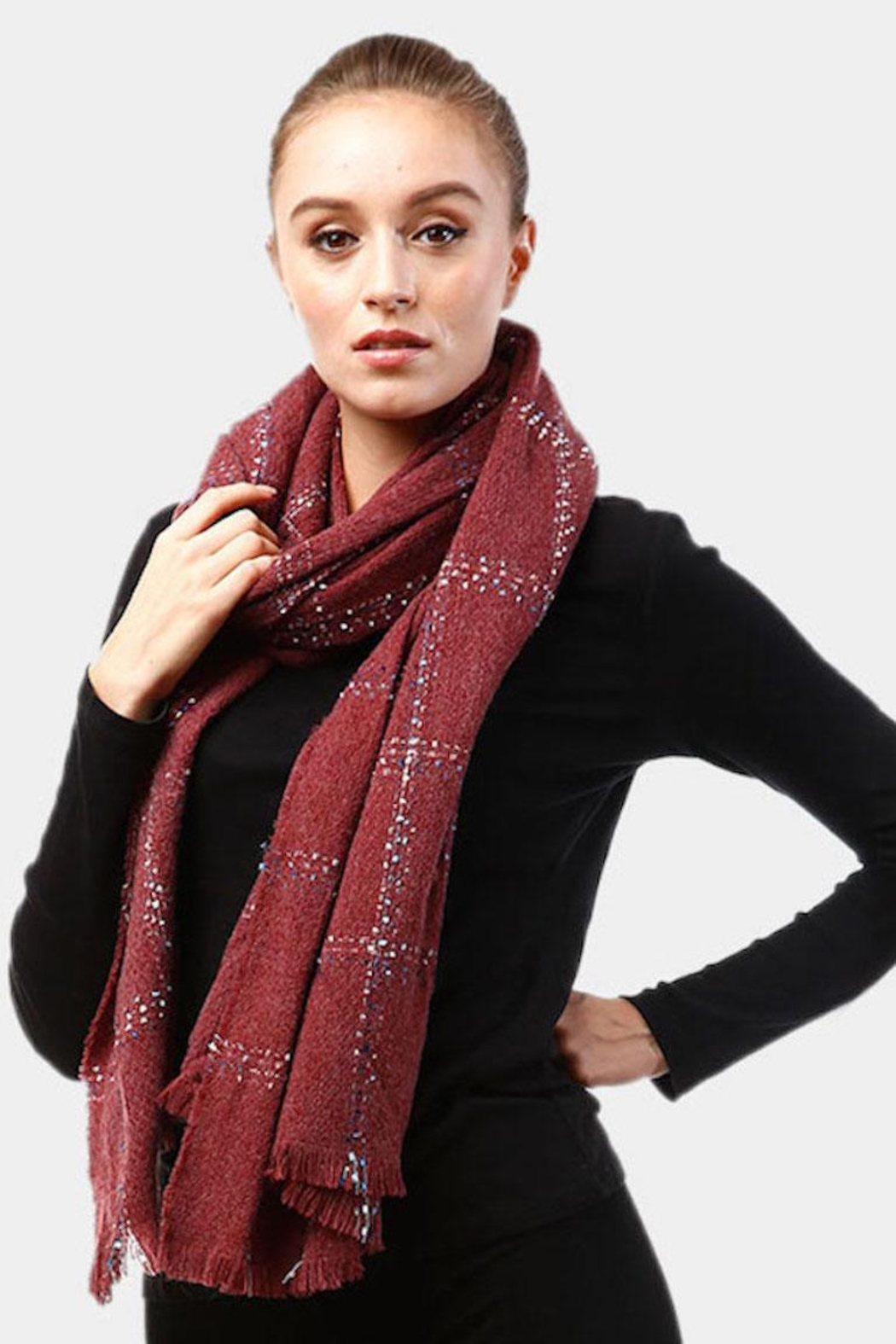TIGERLILY Windowpane Oblong Scarf - Front Full Image