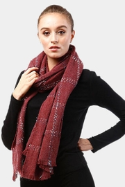 TIGERLILY Windowpane Oblong Scarf - Front full body