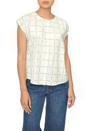 Indi & Cold Windowpane Plaid Top - Front cropped