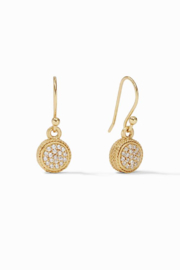 Julie Vos  Windsor Earring Gold Pave Cubic Zirconia - Product Mini Image
