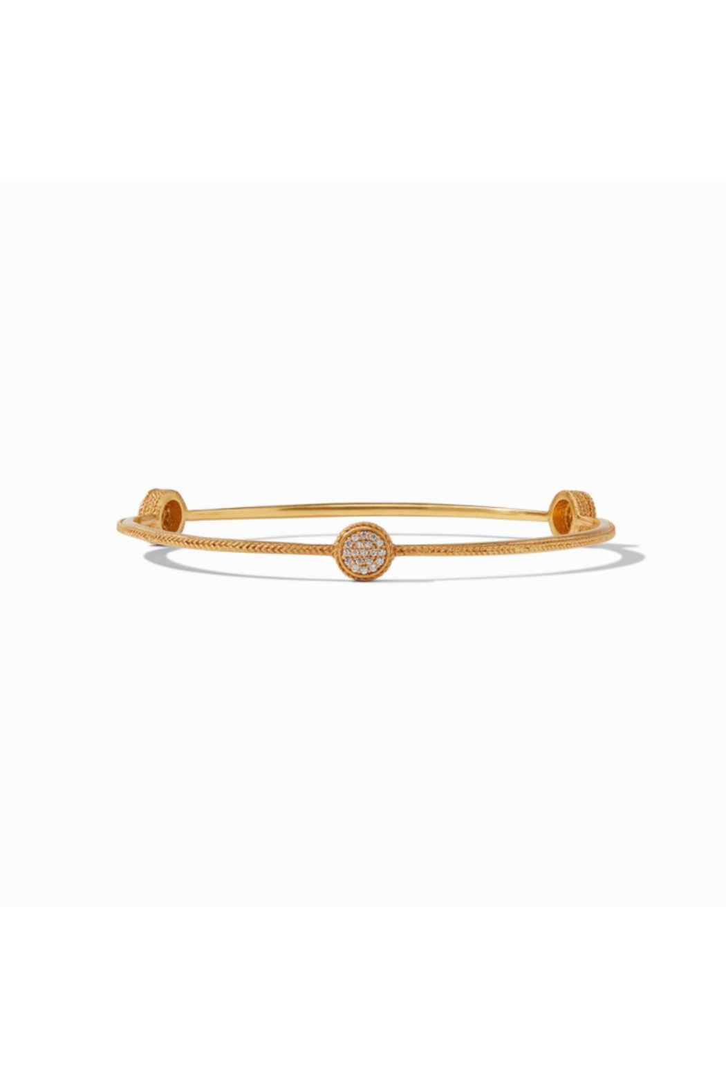 Julie Vos  Windsor Pave Bangle Gold Pave Cubic Zirconia Small - Main Image