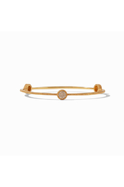 Julie Vos  Windsor Pave Bangle Gold Pave Cubic Zirconia Small - Front cropped