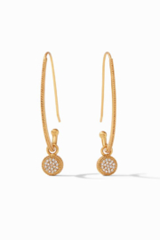 Julie Vos  Windsor Statement Earring Gold Pave Cubic Zirconia - Product Mini Image