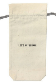 SugarBoo & Co.  Wine bag Let's Misbehave WB103 - Front cropped