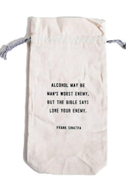 SugarBoo & Co.  Wine Bag Love your enemy WB118 - Product Mini Image