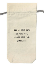 SugarBoo & Co.  Wine Bag May all your joys WB101 - Product Mini Image