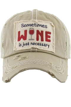 KBETHOS Wine Baseball Cap - Product List Image