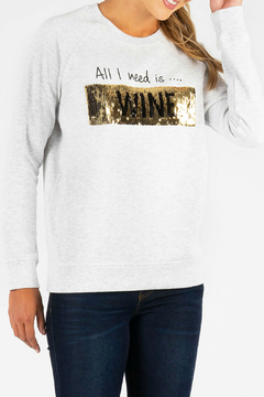 KUT Wine Coffee Sequin Pullover - Product List Image
