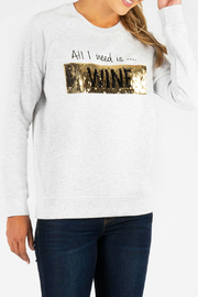 KUT Wine Coffee Sequin Pullover - Product Mini Image