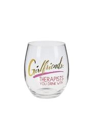Ganz Wine Glass Girlfriends/therapists - Front cropped