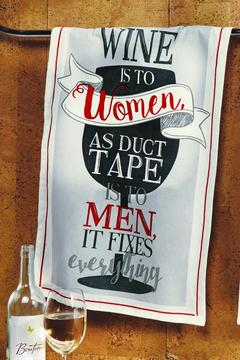 Jenny & Company Wine Is To Women Towel - Alternate List Image