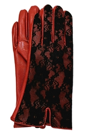 ANTONELLO SERIO Wine Lace Gloves - Product Mini Image