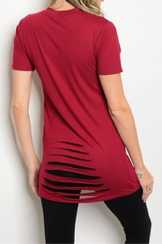 Love Tree Wine Lace-Up Tee - Front full body