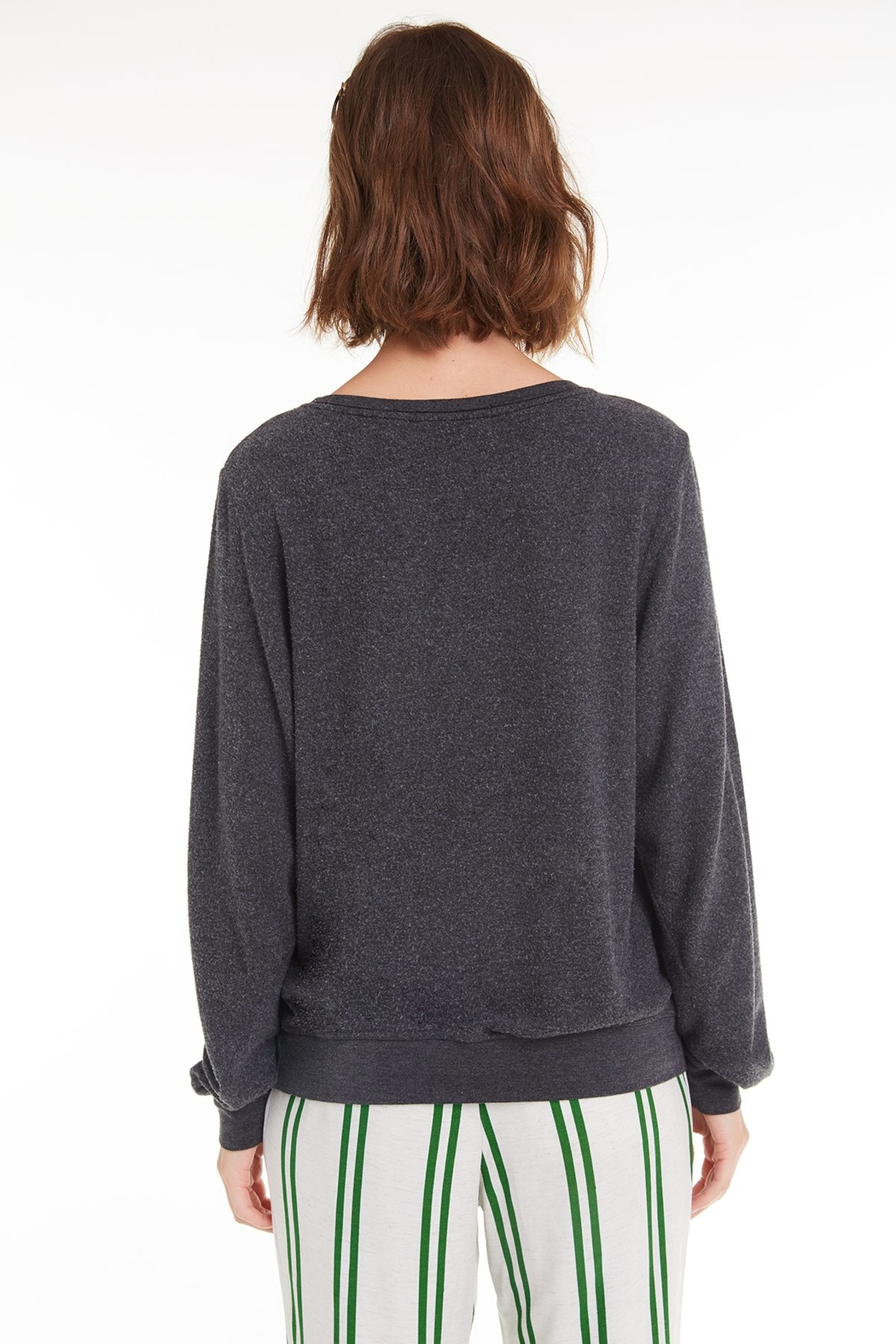 Wildfox Wine Me Over Baggy Beach Jumper - Side Cropped Image