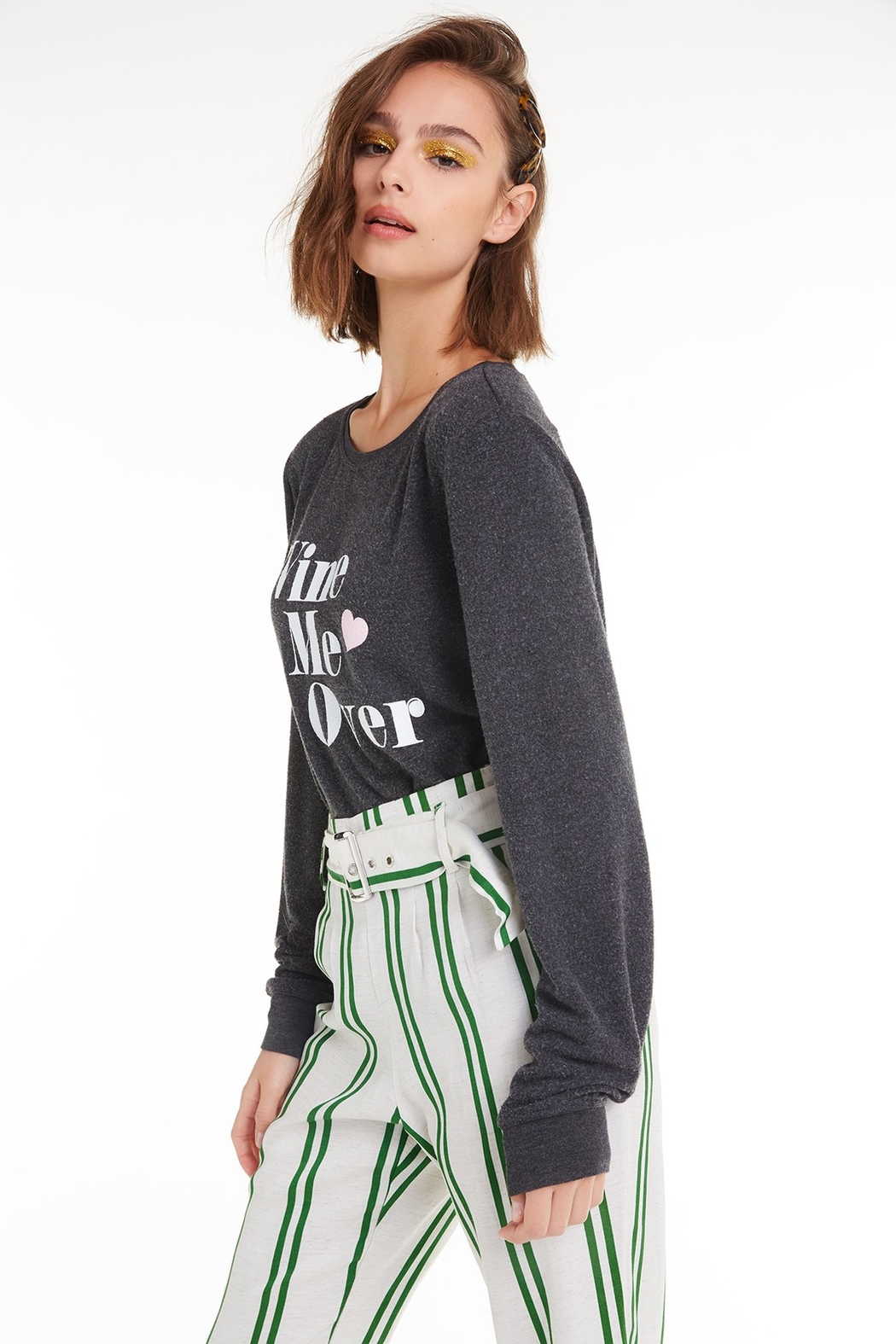 Wildfox Wine Me Over Baggy Beach Jumper - Main Image