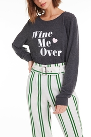 Wildfox Wine Me Over Baggy Beach Jumper - Front cropped