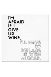 Twisted Wares Wine Murder Napkins - Product Mini Image