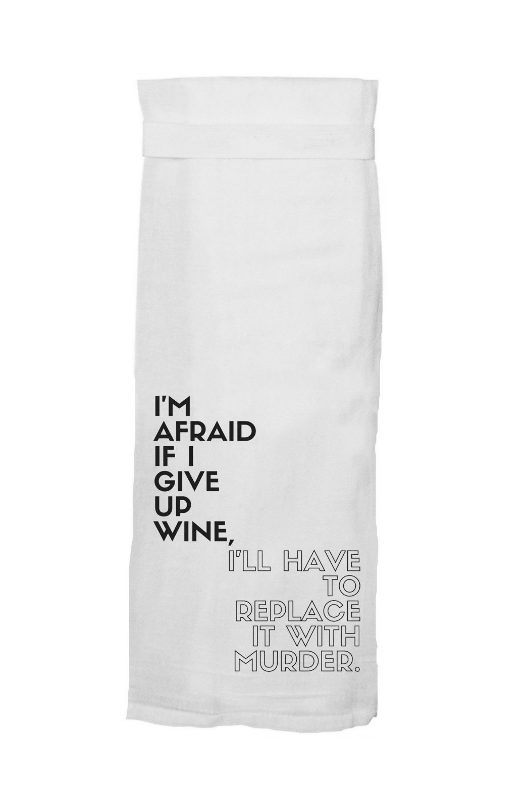 Twisted Wares™ Wine Murder Towel - Main Image