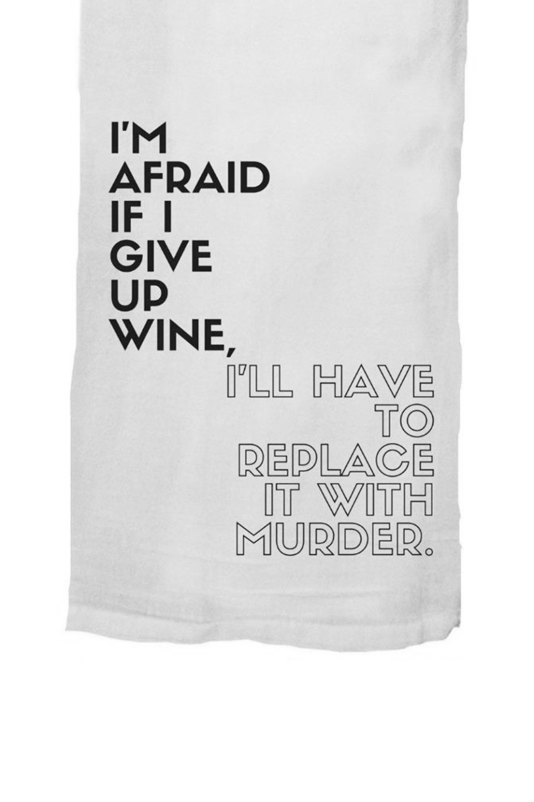 Twisted Wares™ Wine Murder Towel - Front Full Image